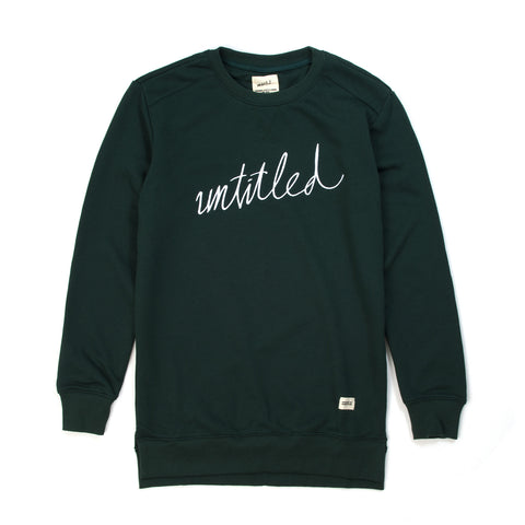 Untitled Hudson Crewneck Forrest Green - Concrete
