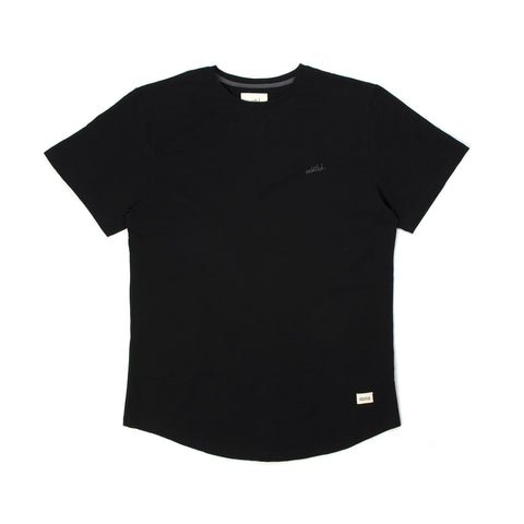 Untitled 220 GSM Tuscany Slub Tee Black - Concrete