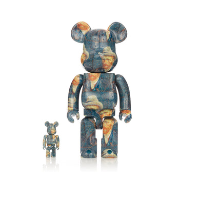 Medicom Toy | Be@rbrick 400% & 100% set x Van Gogh Museum 'Self Portrait' - Concrete