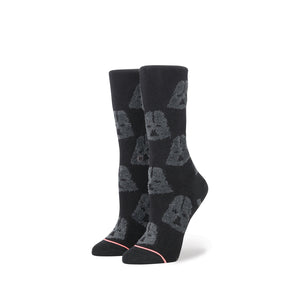 Stance | x Star Wars W 'Cozy Vader' Black - Concrete