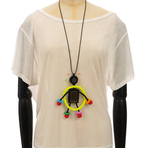 Walter Van Beirendonck | Mirror Doll Necklace Multicolor - Concrete