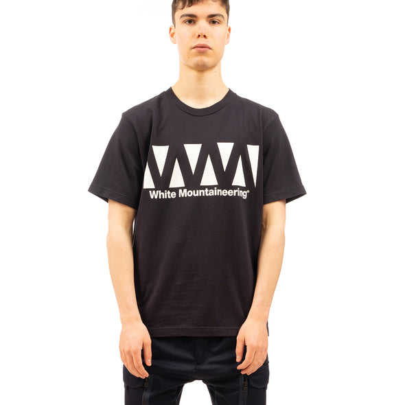 White Mountaineering | WM Logo Printed T-Shirt Navy - Concrete
