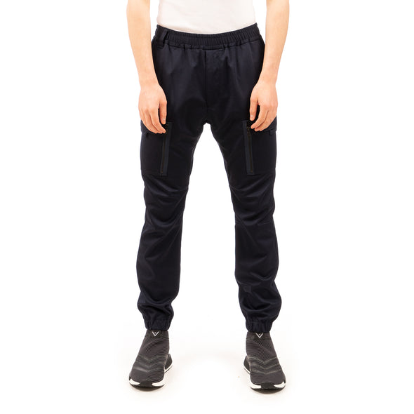 White Mountaineering | Twilled Jersey Cargo Pants Navy - Concrete