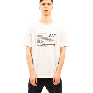 White Mountaineering | WM Label Printed T-Shirt White - Concrete