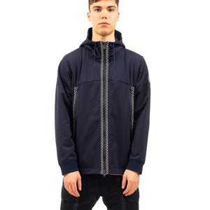 White Mountaineering | Zip Pocket Hoodie Navy - Concrete