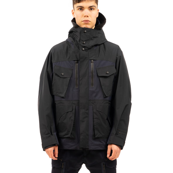 White Mountaineering | GORE-TEX Paclite Mountain Parka Black - Concrete
