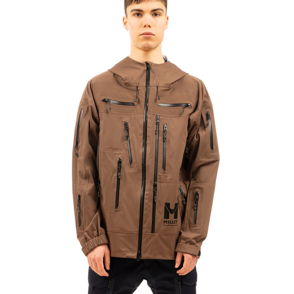 White Mountaineering | x Millet Saitos 3L Mountain Parka Brown - Concrete