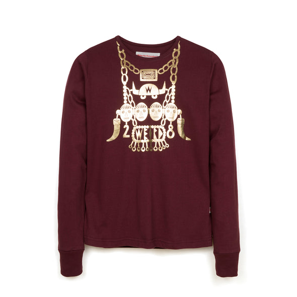 Walter van Beirendonck Headhunter Girl Tee Burgundy
