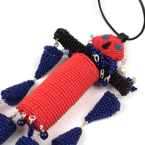 Walter van Beirendonck Walter Doll Necklace Red/Blue