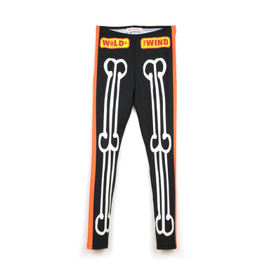 Walter Van Beirendonck Skeleton Bike Leggings comb.III Black