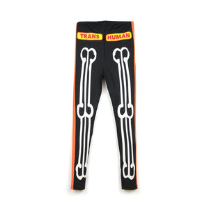 Walter Van Beirendonck Skeleton Bike Leggings comb.III Black - Concrete