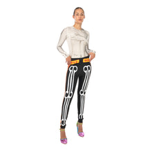 Load image into Gallery viewer, Walter Van Beirendonck Skeleton Bike Leggings comb.III Black - Concrete