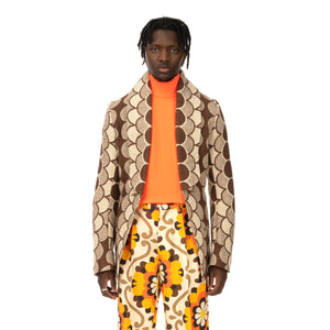 Walter Van Beirendonck | Revolution Jacket CC10 Brown Circles - Concrete