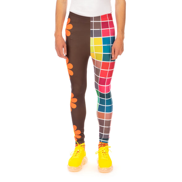 Walter Van Beirendonck | Save Planet Earth Bike Leggings Brown Orange Daisy