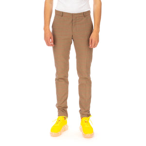 Walter Van Beirendonck | Sharp Trousers Brown-Red Checks