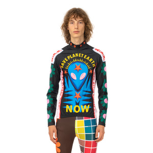 Walter Van Beirendonck | Save Planet EarthBike Top Black - Green Daisy