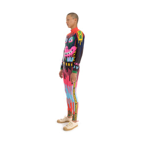 Walter Van Beirendonck Dripping Monster Bike Legging comb.II Blue-Orange