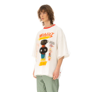Walter Van Beirendonck | O-Arm Double Oversized T-Shirt White / Transparant