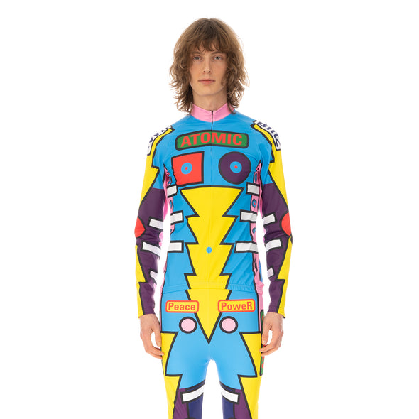 Walter Van Beirendonck | Radiate Beauty Bike Top comb.I Blue / Pink