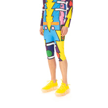 Load image into Gallery viewer, Walter Van Beirendonck | Radiate Beauty Overknee Bike Shorts comb.I Blue / Pink