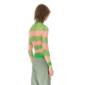 Walter Van Beirendonck | Whale Net Top (Stripes) comb.I Green / Pink