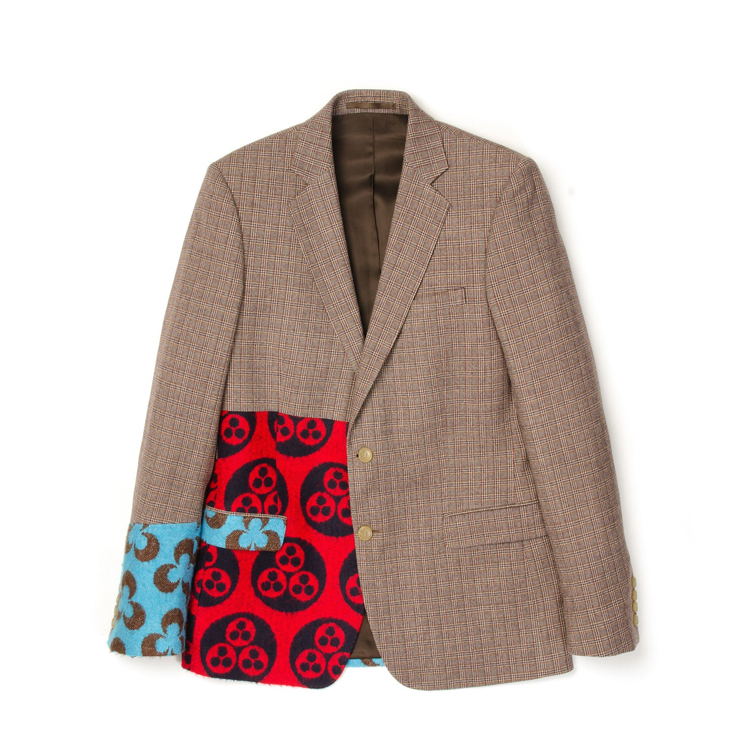Walter van Beirendonck Sharp Blazer Patch Print Brown - Concrete