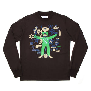 Walter van Beirendonck World Tee Brown - Concrete
