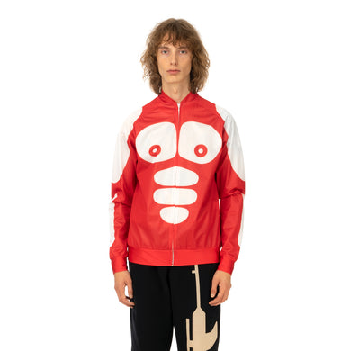 Walter Van Beirendonck | Body Parts Blouson Top Red - Concrete