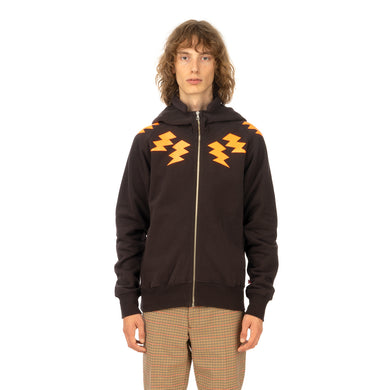 Walter Van Beirendonck | 'Duk Duk' Zipped Hooded Sweat Brown - Concrete
