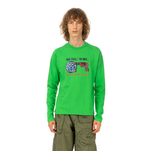 Walter Van Beirendonck | Gun T-Shirt Long Sleeve Green - Concrete