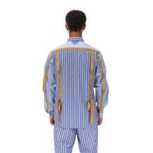 Load image into Gallery viewer, White Mountaineering | Striped Broad Taped Shirt Blue