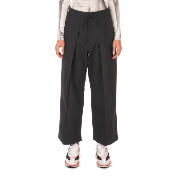 adidas Y-3 | W Classic Winter Wool Cropped Wide Leg Pants Black - GK4462 - Concrete