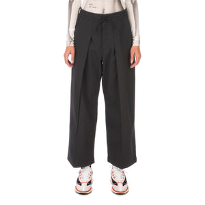 adidas Y-3 | W Classic Winter Wool Cropped Wide Leg Pants Black - GK4462