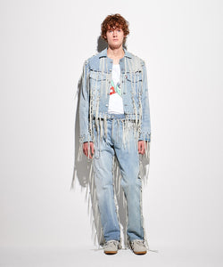 FACETASM | x LEVI'S® M Linked Trucker Jacket Denim Blue - Concrete