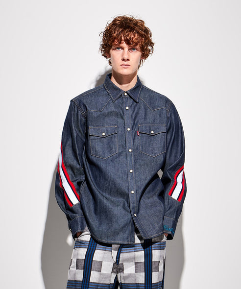 FACETASM | x LEVI'S® Sawtooth Western Shirt Denim - Concrete