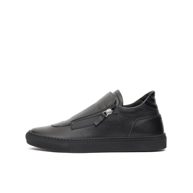 Ylati Giove Low Black Nappa - Concrete