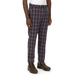 YOOST | Mr. Bootcamp Trousers Blue Check - Concrete