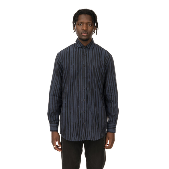 YOOST | Bowie Shirt Navy Stripe - Concrete