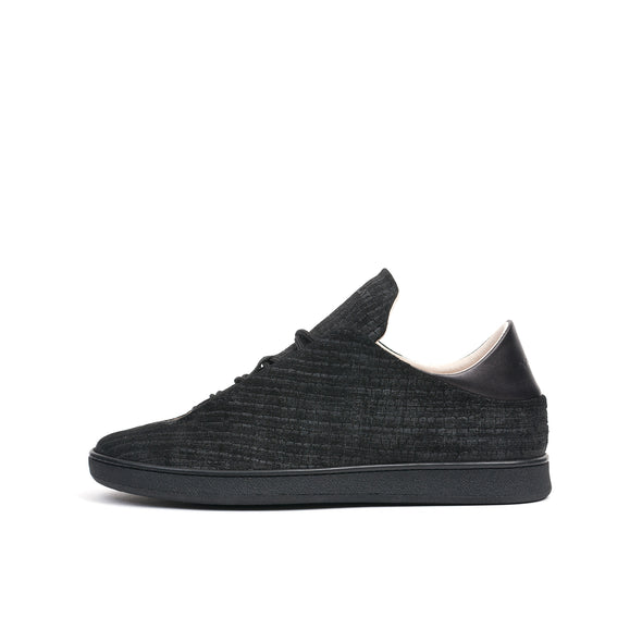 Ylati Virgilio Low Reptile Nubuck Black - Concrete