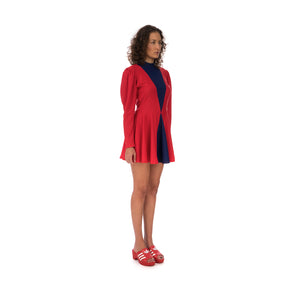 adidas | x Lotta Volkova Ice Skate Dress Red / Dark Blue
