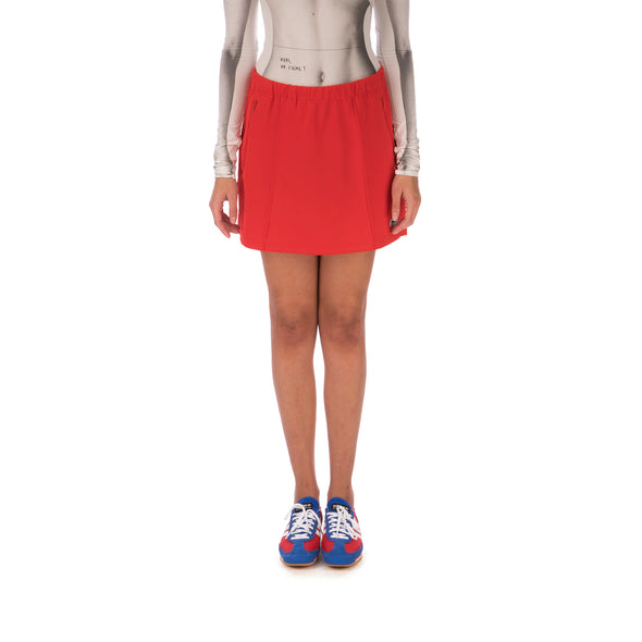 adidas | x Lotta Volkova Tennis Skirt Red - Concrete