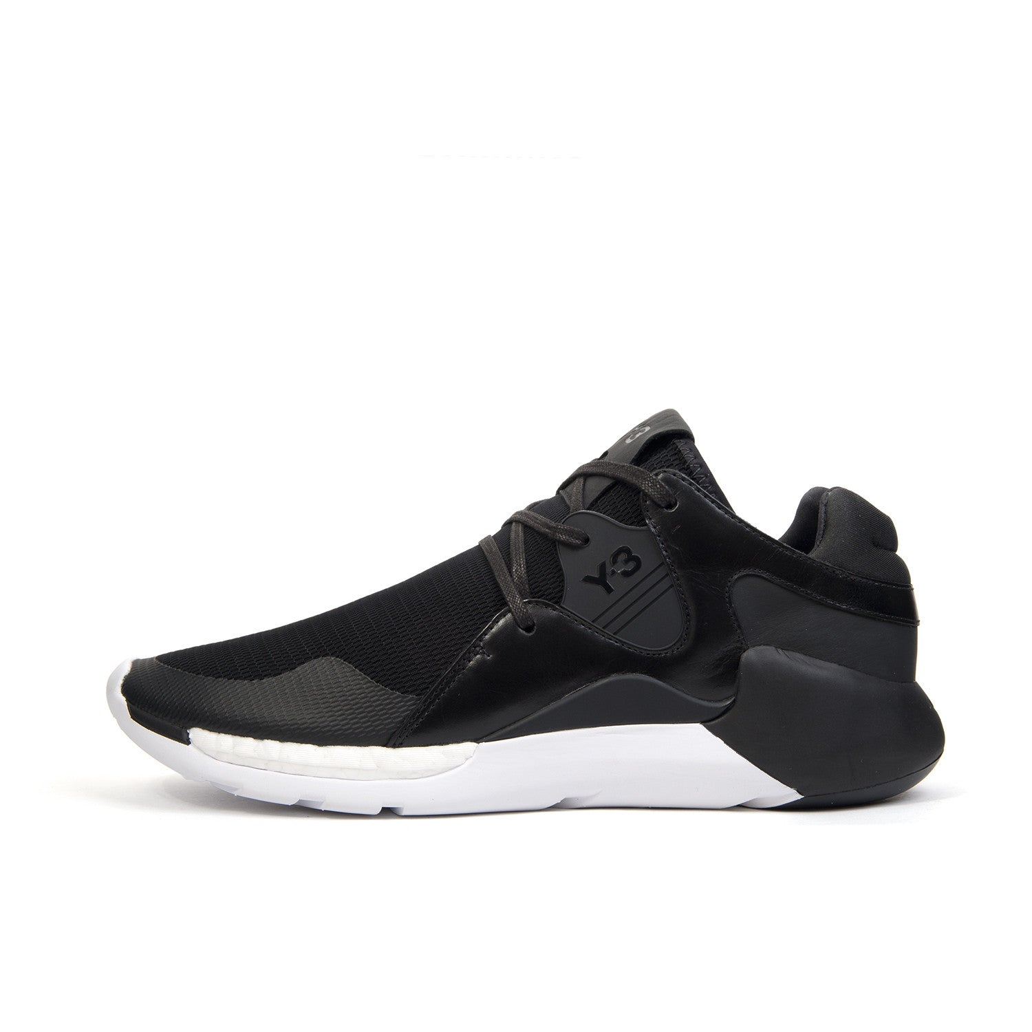 adidas Y-3 QR Run Black/Black/White - Concrete