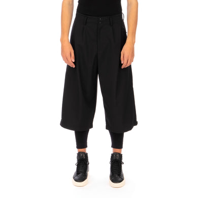 adidas Y-3 | M Classic Winter Wool Cropped Wide Pants Black - GK7874