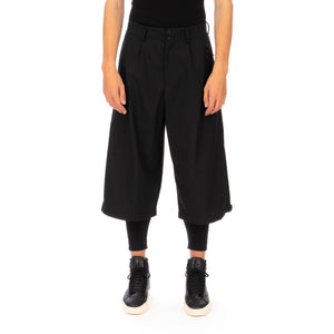 adidas Y-3 | M Classic Winter Wool Cropped Wide Pants Black - GK7874 - Concrete
