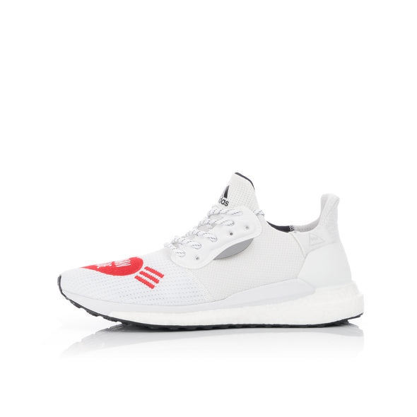 adidas Originals x Pharrell Williams SolarHU Human Made Cloud White / Scarlet - Concrete
