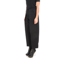Afbeelding in Gallery-weergave laden, adidas Y-3 W Classic Gabardine Cropped Wide Leg Pants Black - FS0225