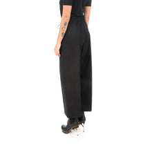 Load image into Gallery viewer, adidas Y-3 W Classic Gabardine Cropped Wide Leg Pants Black - FS0225