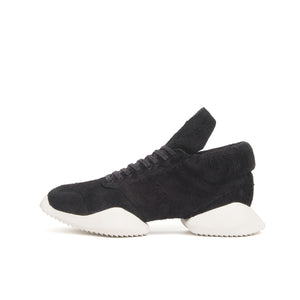 adidas x Rick Owens RO Runner Soft Black Leather/Milk - Concrete
