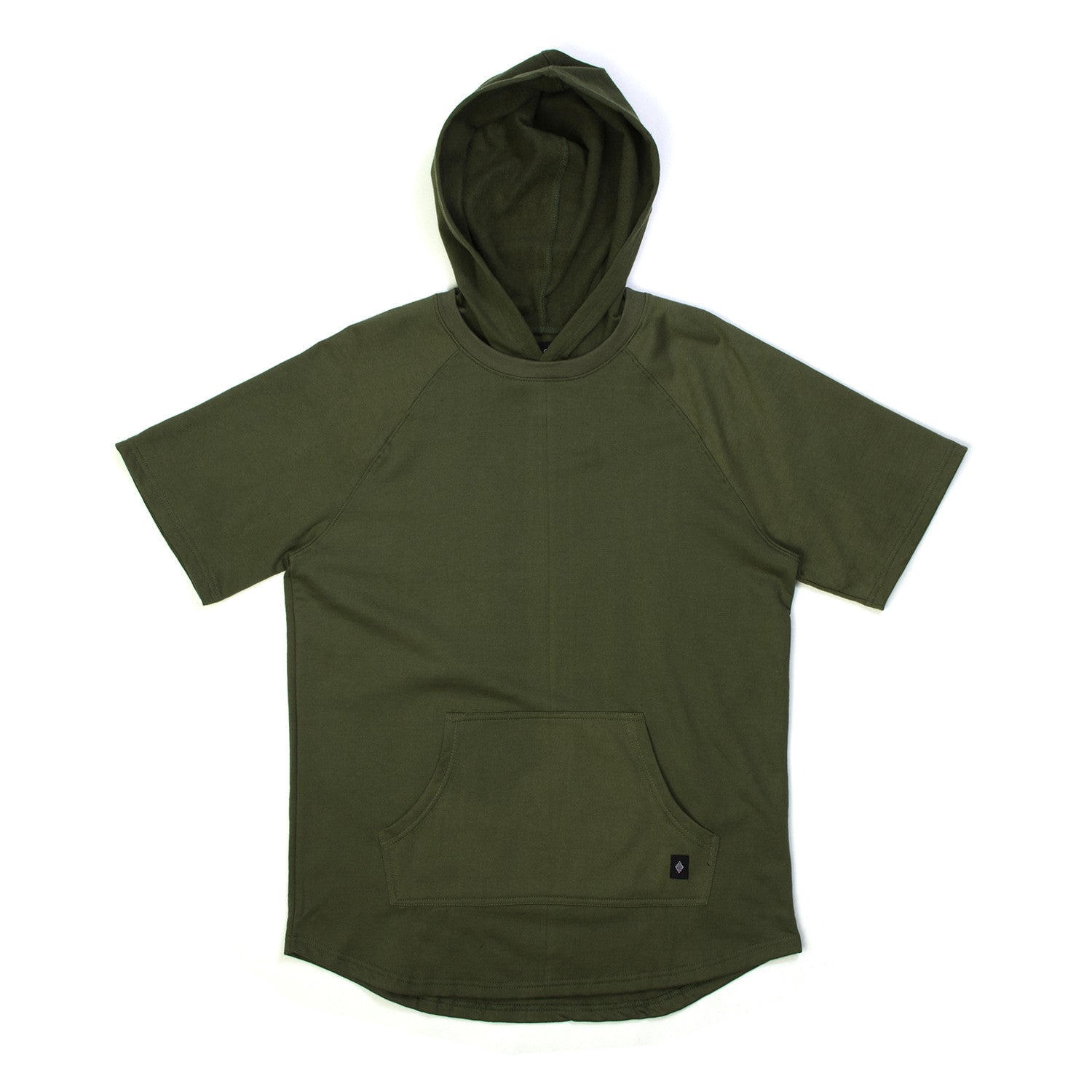 Akomplice West Short Sleeve Hoodie Military Green
