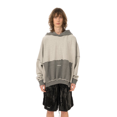 asparagus_ | Inside Out Hoodie Sweater Grey - Concrete